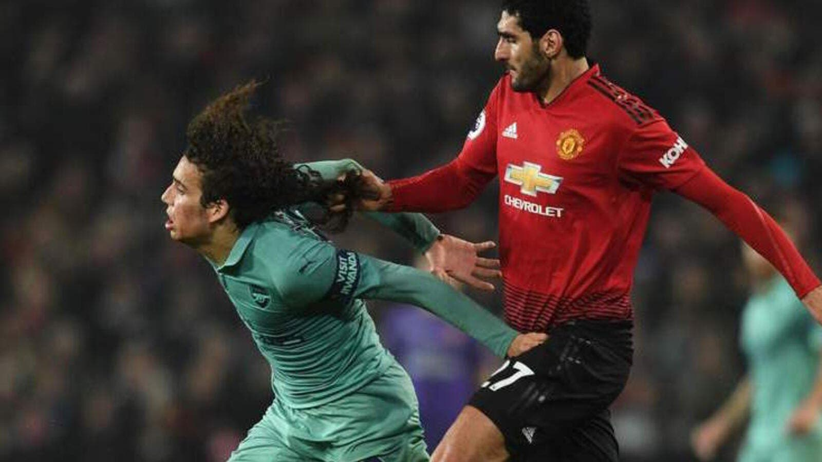 The Belgian conceded a free-kick by pulling his opponent by the hair in the draw with Arsenal, although he's unlikely to face any retrospective action (Photo: standard.co.uk)