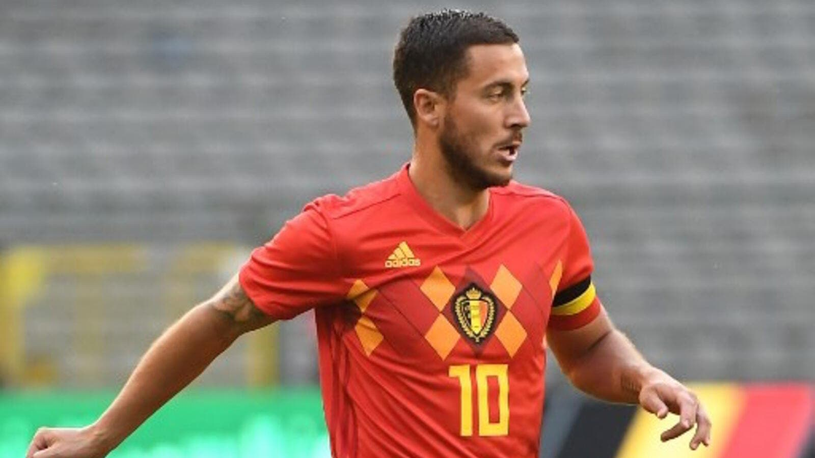 The Belgium attacker praised Egypt's performance in the absence of their star, who he hopes will take part at the World Cup