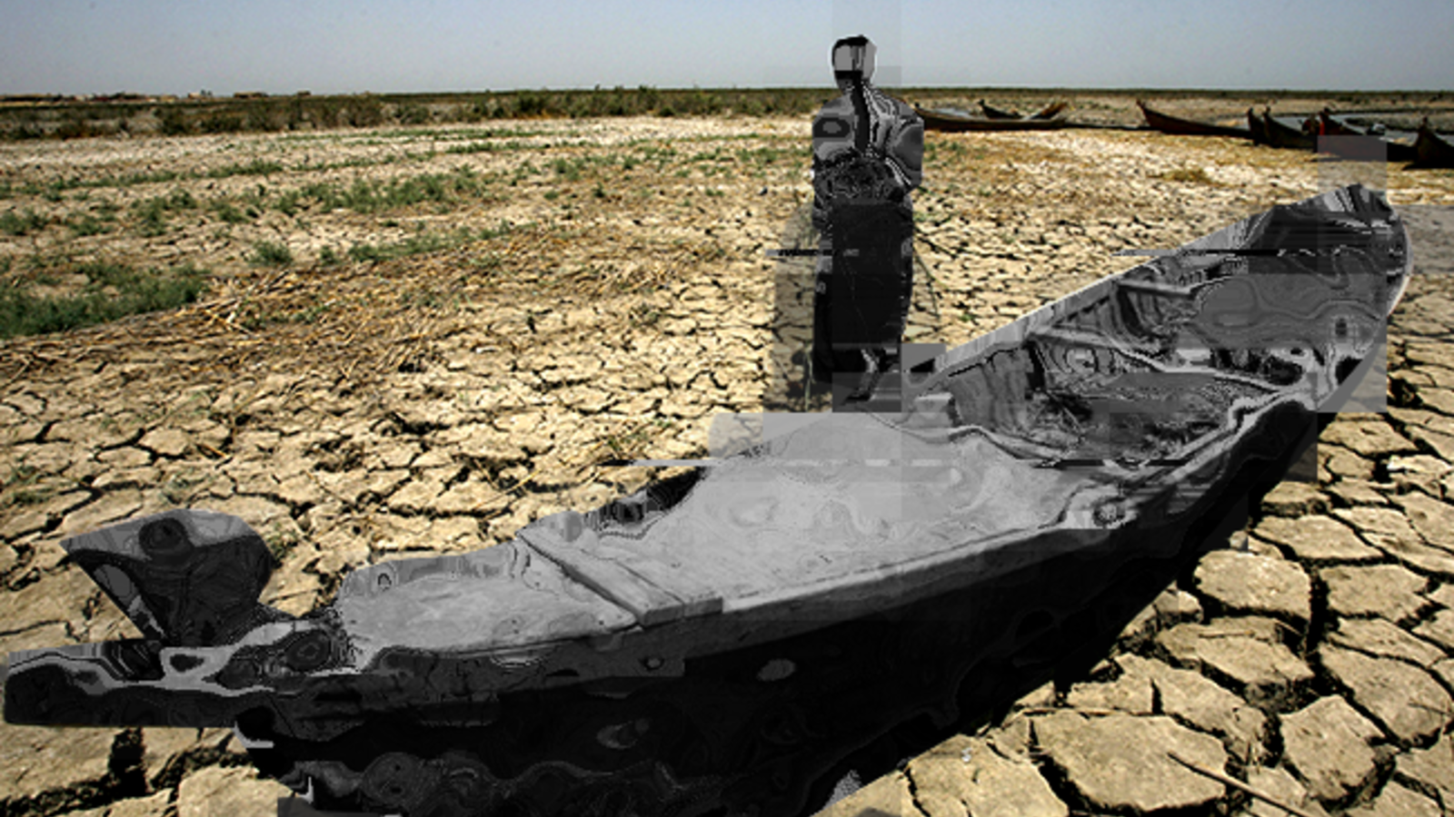 The dead marshes (AFP/FILE, edited by Rami Khoury/Al Bawaba)
