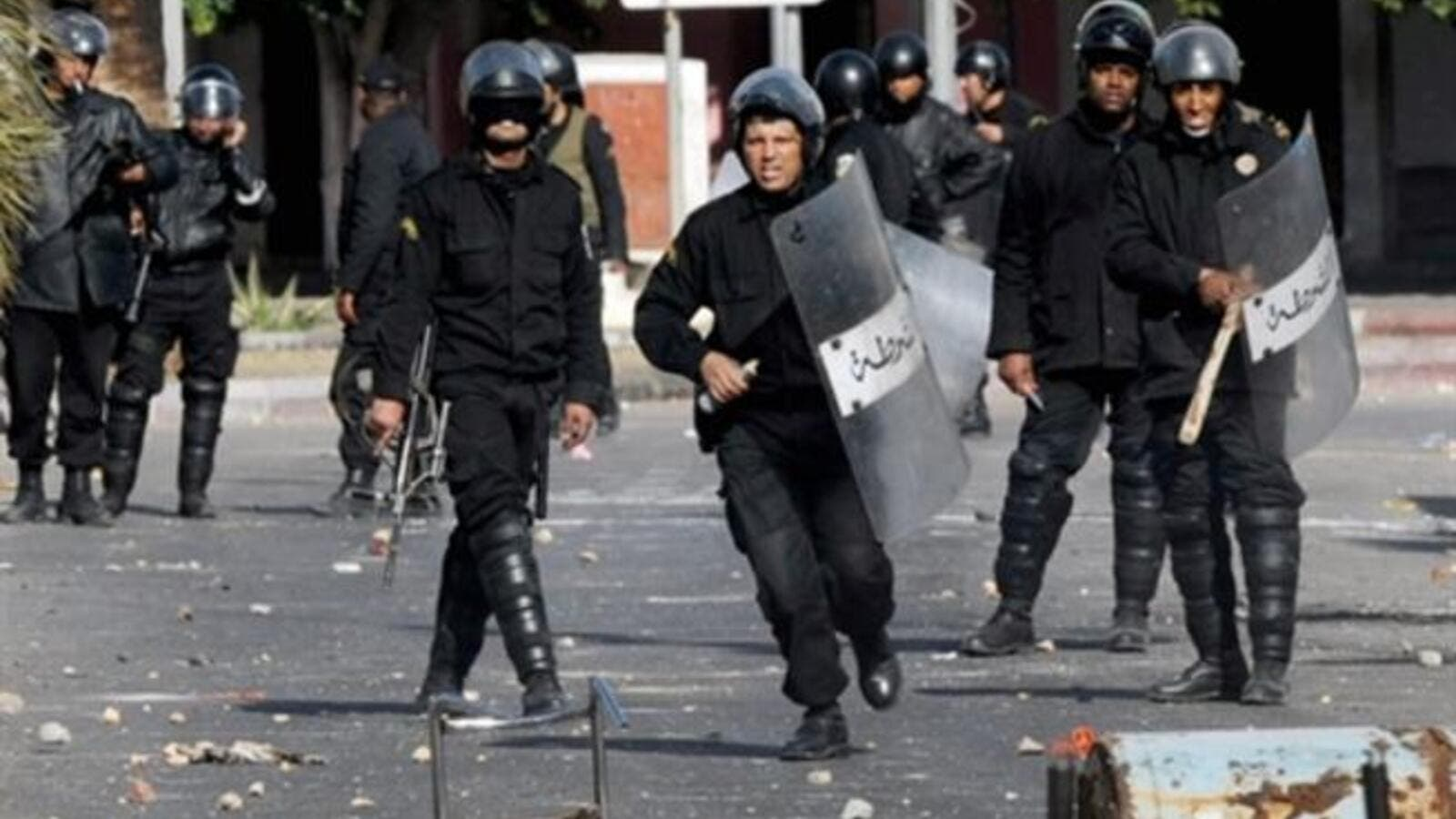 Tunisian security forces have been accuses of reliance of 'brutal' tactics. (AFP/File)