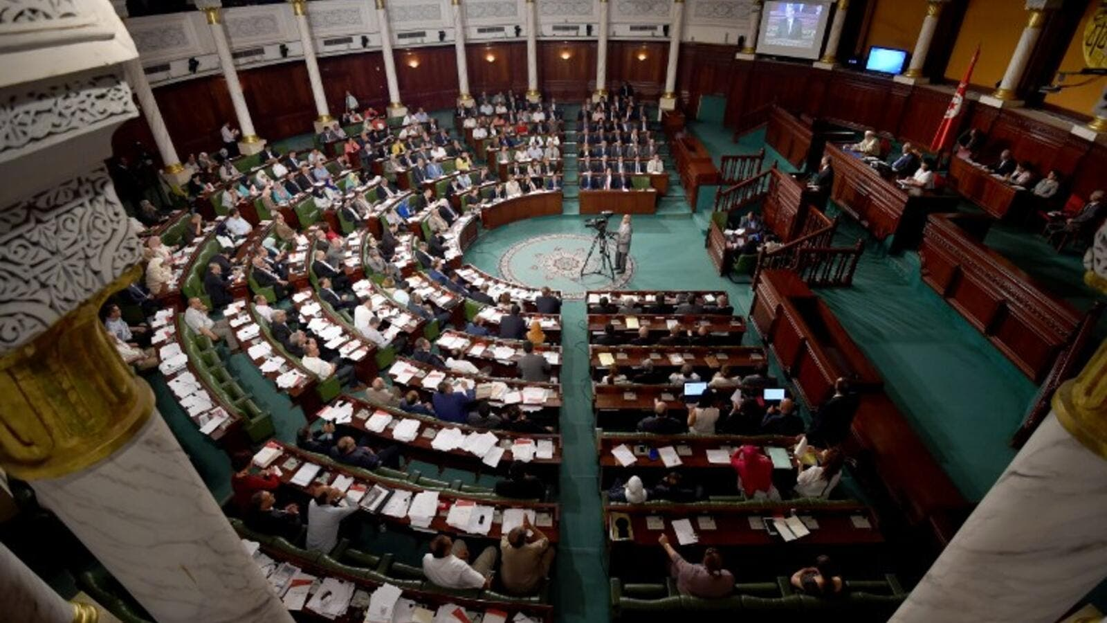 Tunisian parliament. (AFP/File)