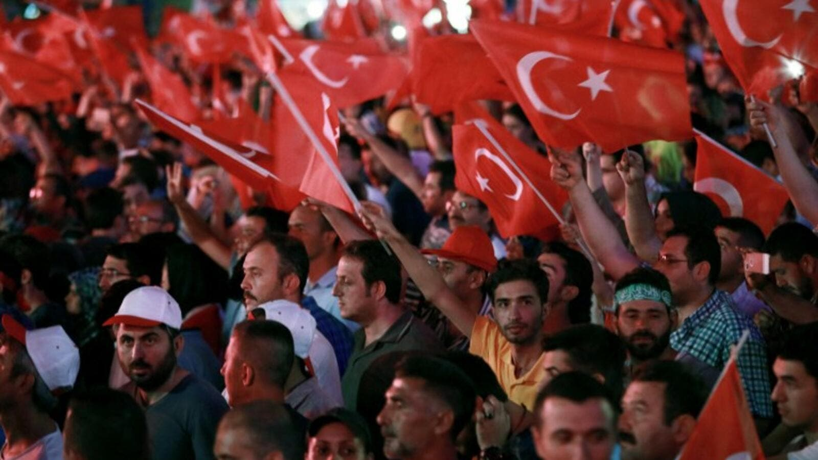 Pro-Erdogan supporters celebrate in Ankara on July 17, 2016 following the failed coup attempt. (AFP/Adem Altan)