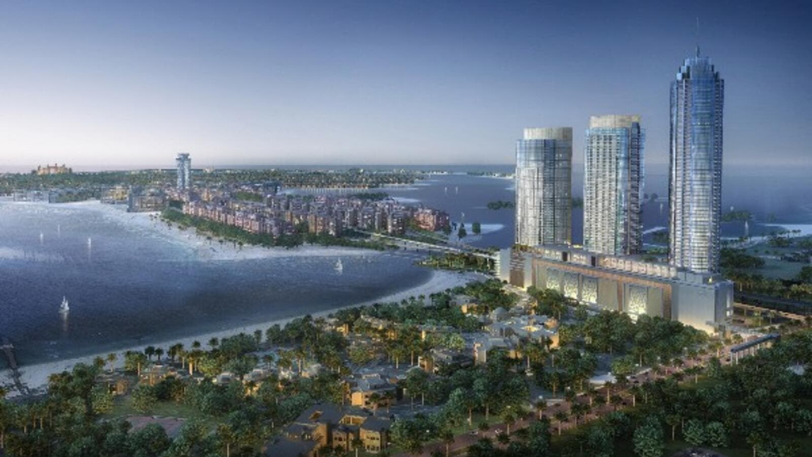 Artist's impression of Nakheel's $280M Palm Gateway Towers. (Nakheel)