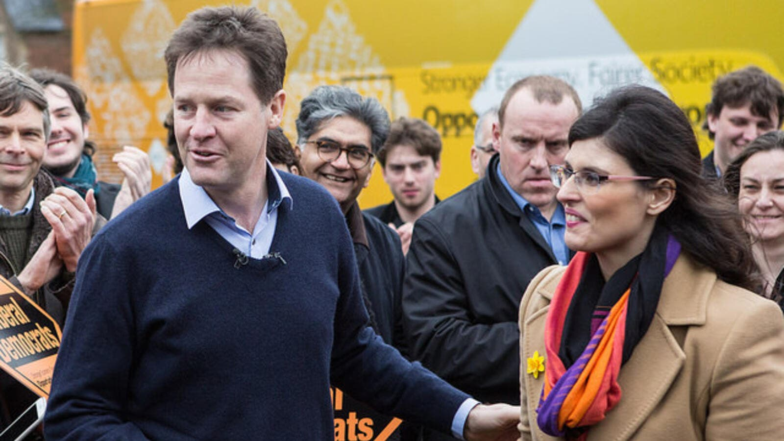 Layla Moran with former Liberal Democrat party leader Nick Clegg in 2015 (Flickr)