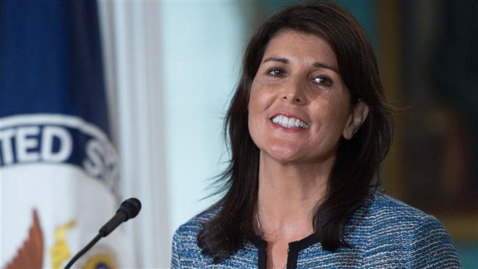 U.S. Ambassador to the United Nation Nikki Haley at the US Department of State in Washington DC on June 19, 2018. (Photo/ AFP)
