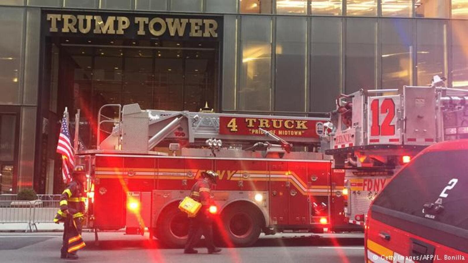 An apartment resident died and 4 other firefighters injured in the 50th floor fire in Trump Tower. (AFP/ File Photo)