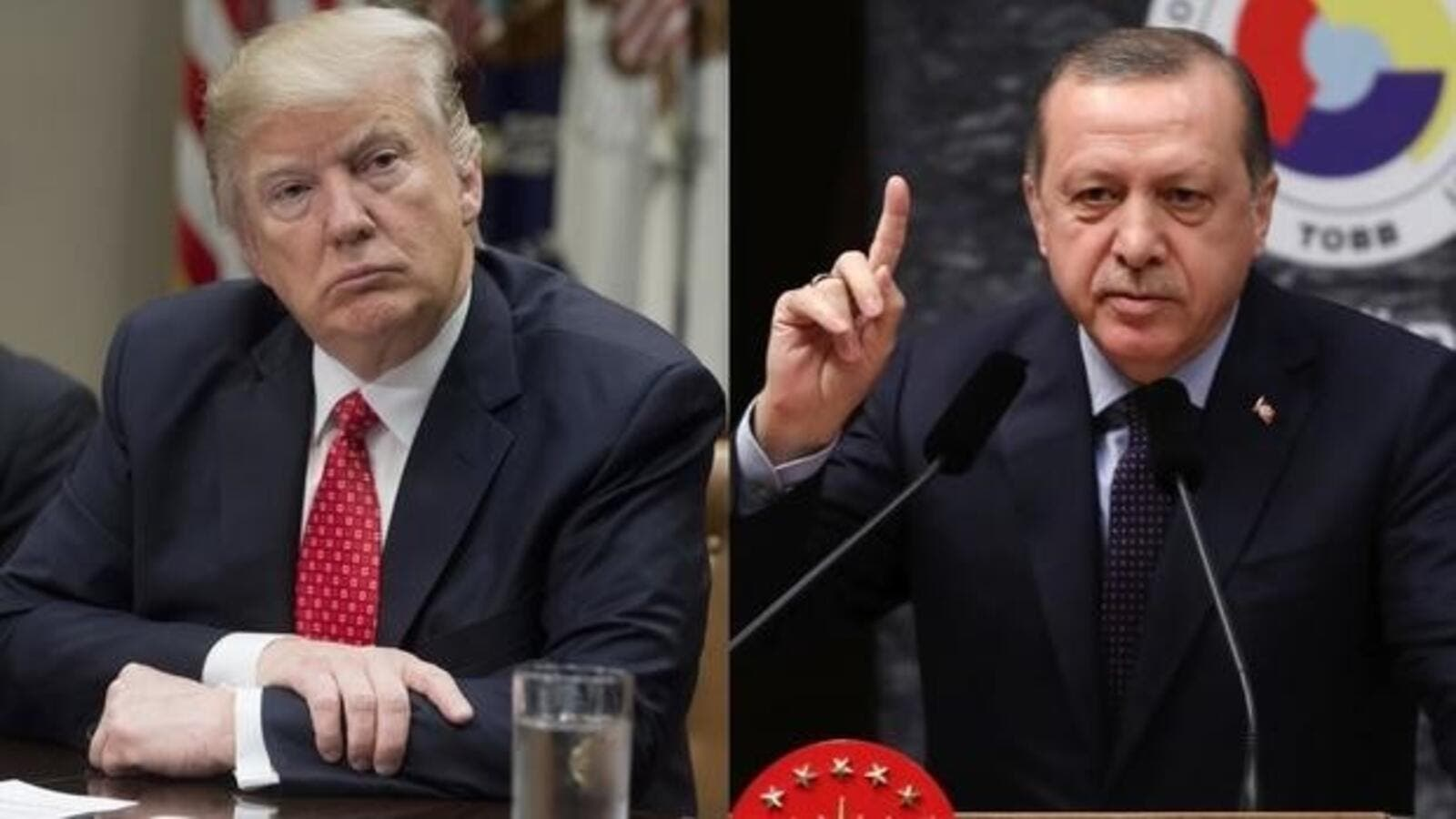 US President Donald Trump (L) and Turkish President Erdogan. (AFP/ File Photo)