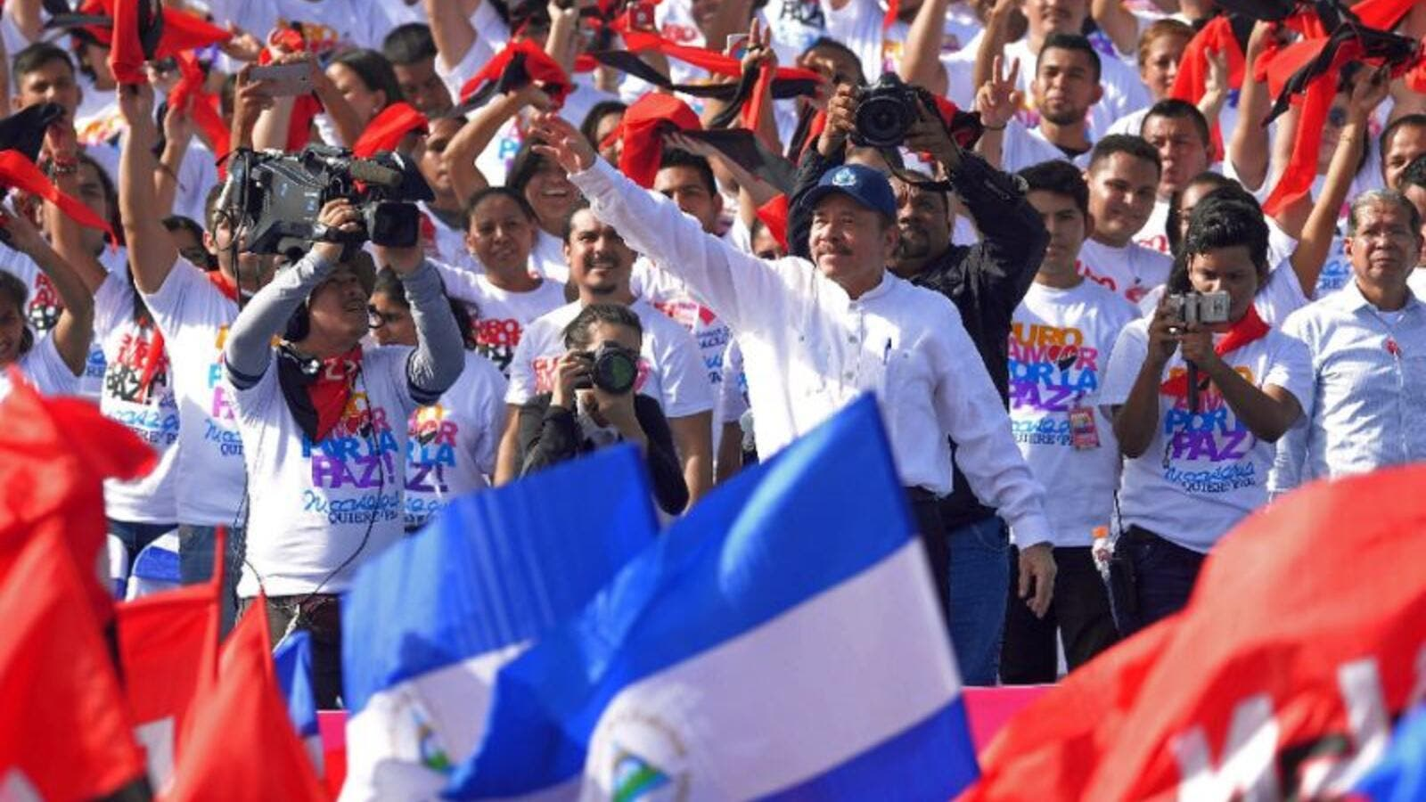 Washington blames Nicaragua's President Daniel Ortega for the deadly unrest that has left more than 300 dead (AFP/MARVIN RECINOS)