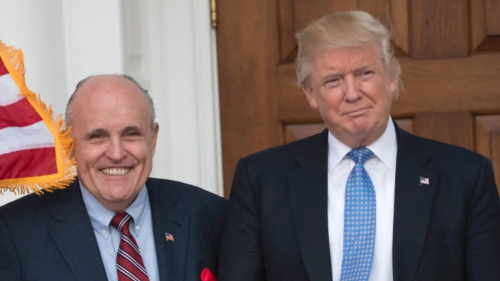 U.S. President lawyer Rudy Giuliani (L) and President Donald Trump. (Don Emmert /AFP)