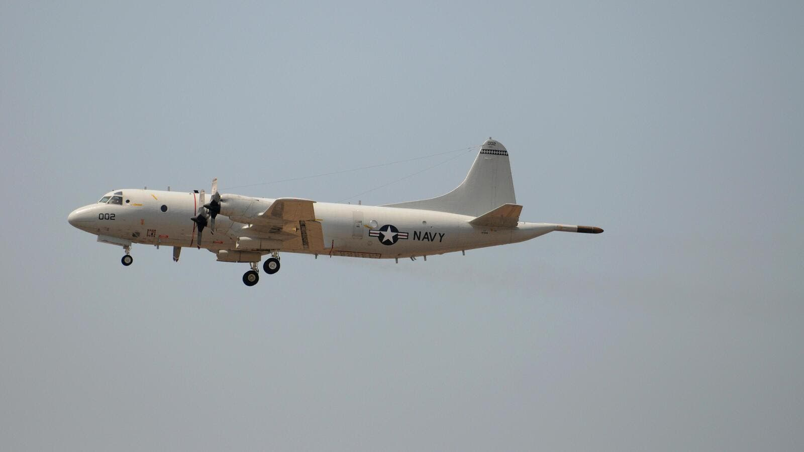 U.S. Navy P3 Orion maritime surveillance aircraft taking off from the Comalapa air base, 40 km south of San Salvador, on May 13, 2009. (AFP/ File Photo)