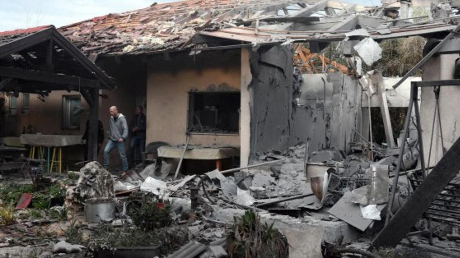 Israel says a long-range rocket launched from the Gaza Strip struck a house in central Israel  (Twitter)
