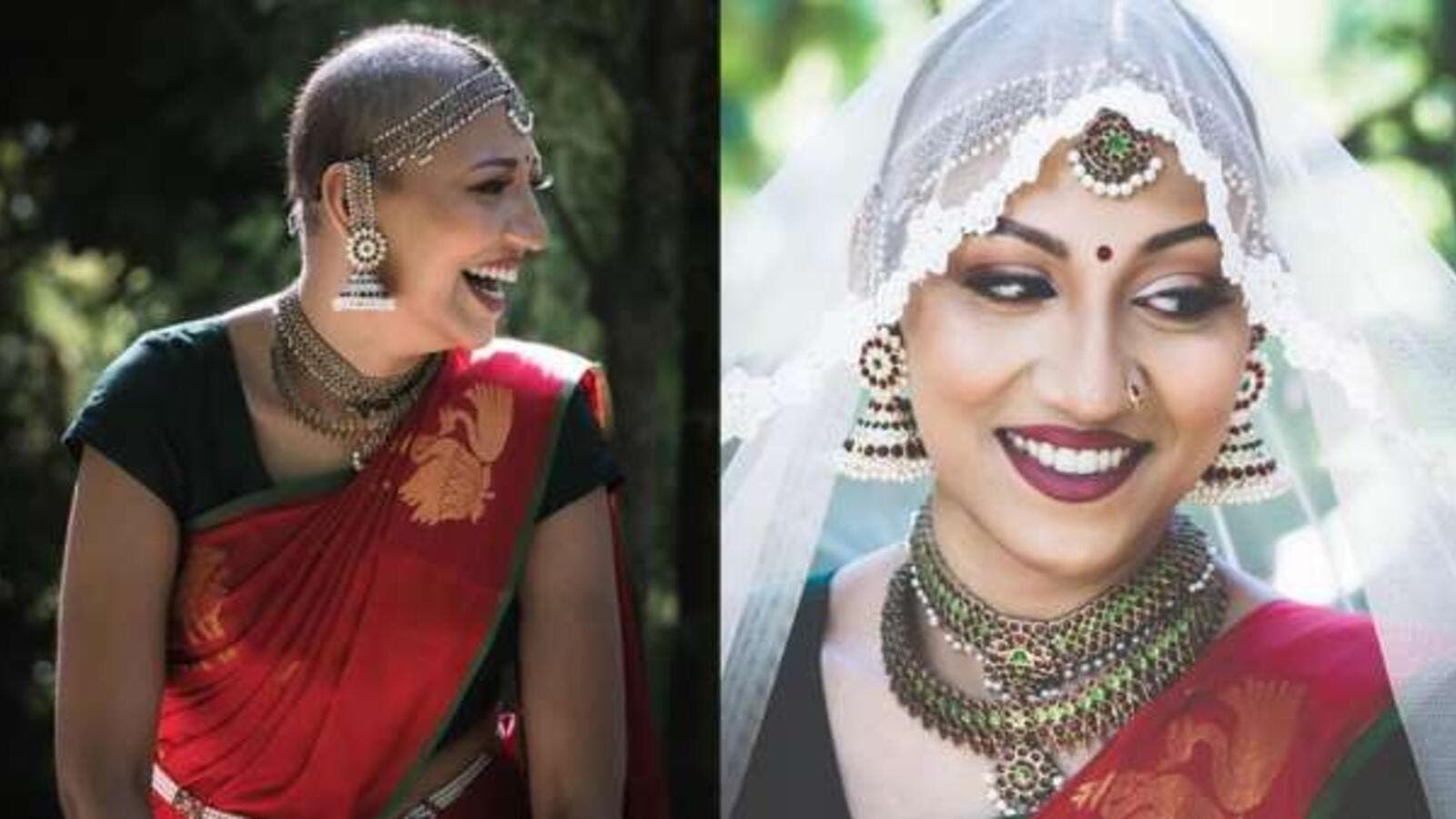 Vashnavi Poovanedran is a cancer survivor's bride. (Vashnavi Poovanedran/ Instagram)