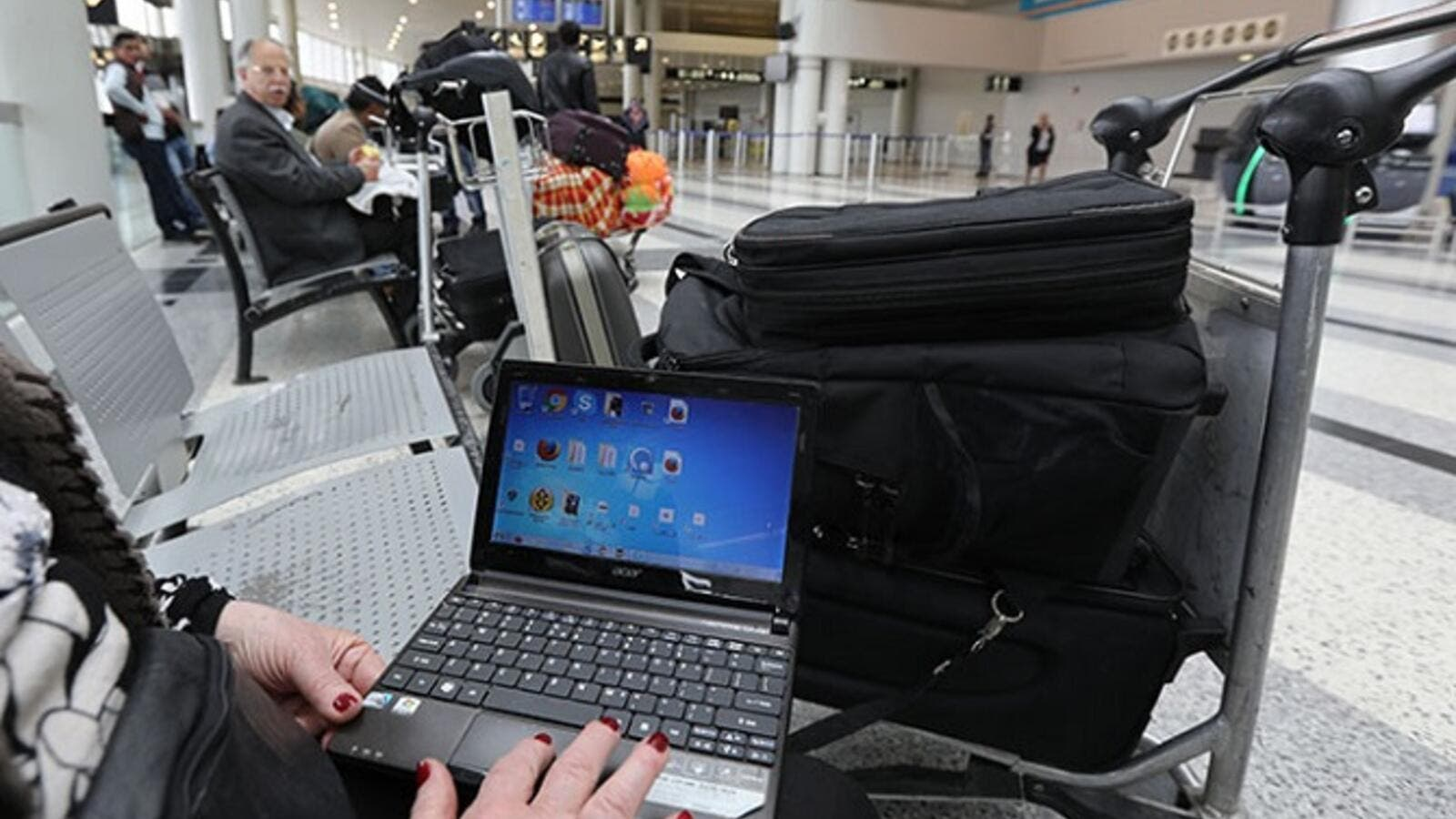 No more laptop ban on large electronic devices from Abu Dhabi to US airports. (AFP/ File)