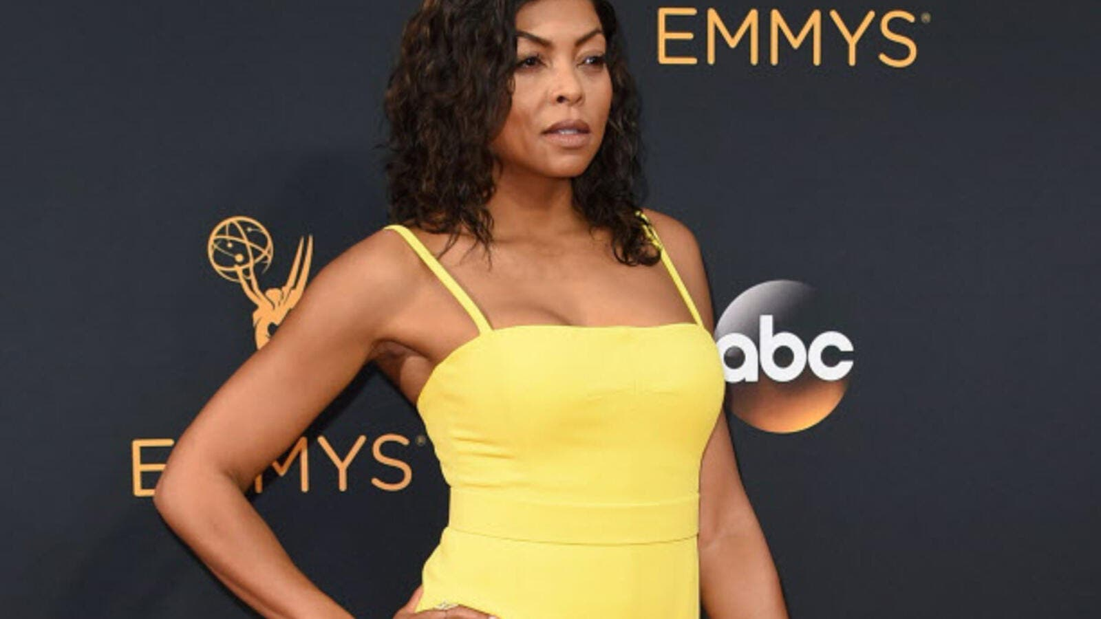 Actress Taraji P. Henson arrives for the 68th Emmy Awards. (AFP/ File)