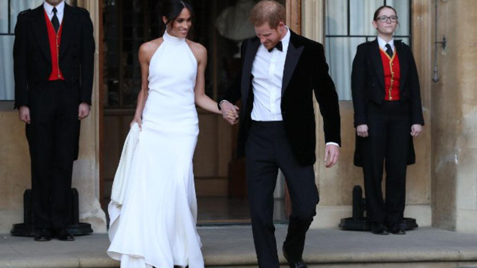 Prince Harry And Meghan Markle's Reception Ended With Fireworks (Source:STEVE PARSONS / POOL / AFP)