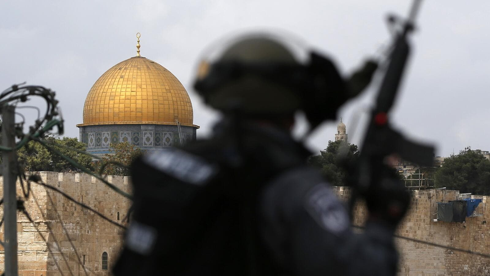 Contested security measures at the flash-point holy site were removed on Thursday (AFP)