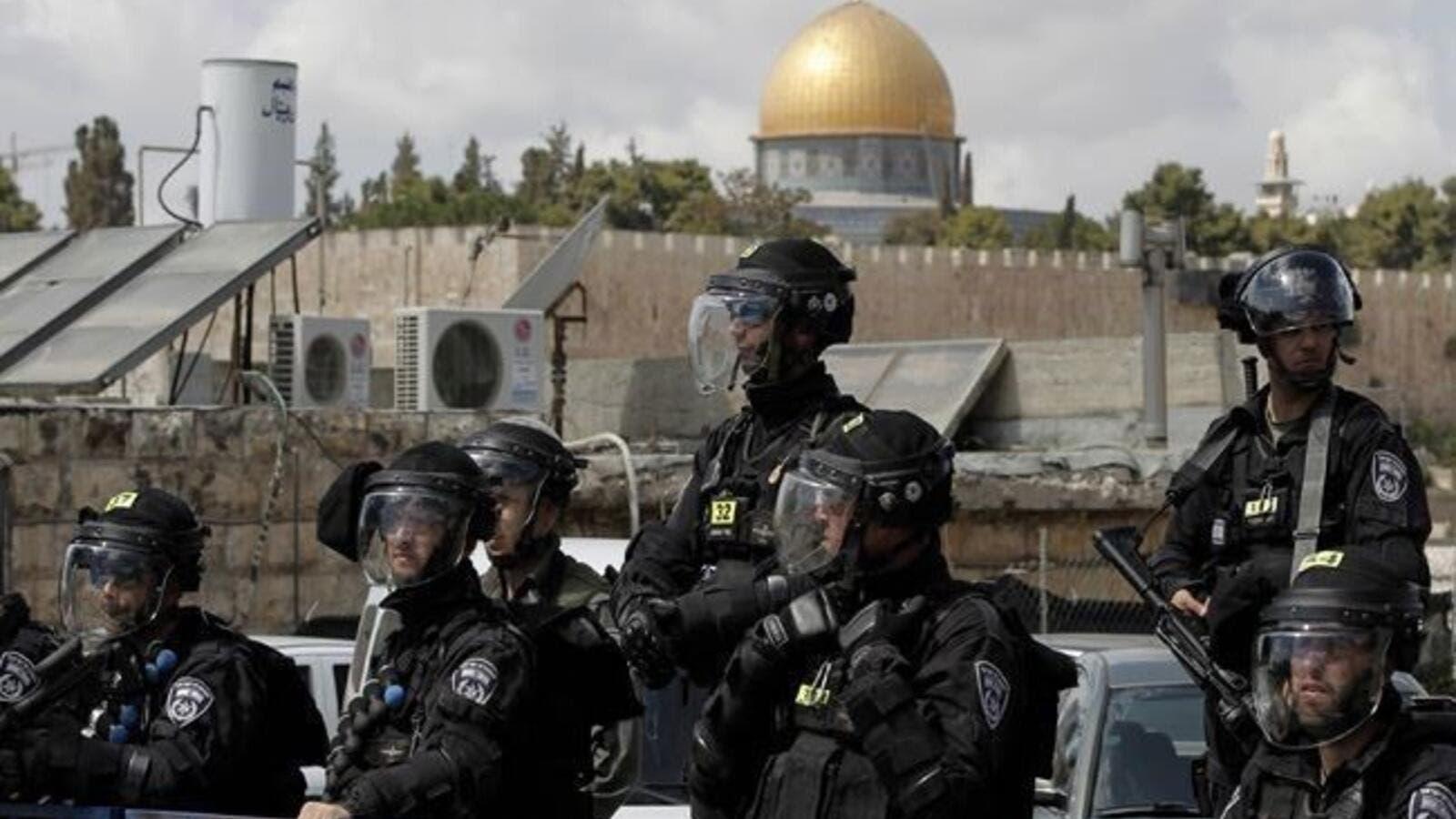 A number of mosque guards were wounded after they were assaulted by Israeli forces in the mosque's courtyards. (AFP)