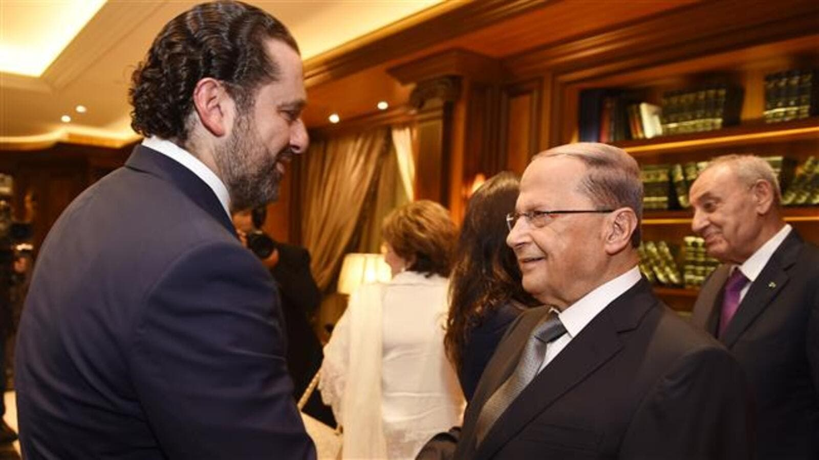 Saad Hariri and President Michel Aoun (AFP/File Photo)