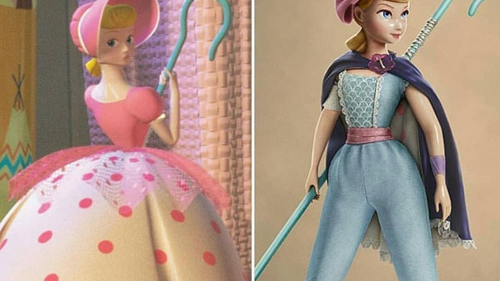 In the first two Toy Story movies Bo Peep wore an old-fashioned gown and bonnet (Source: toystory_disney_pixar / Instagram )