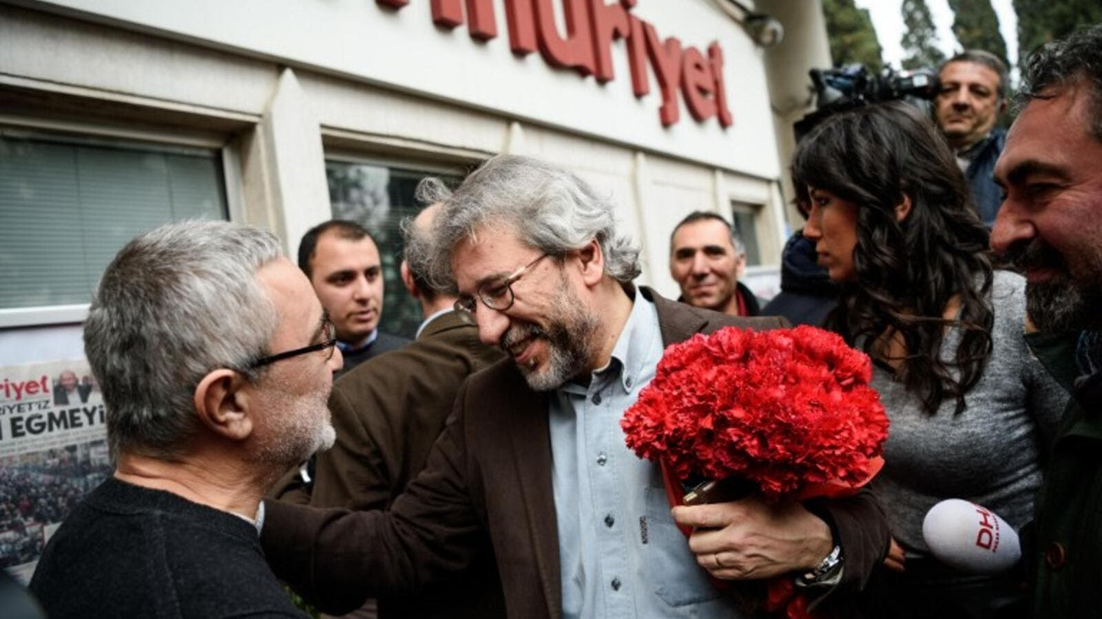 Can Dundar, former editor in chief for Turkish newspaper Cumhuriyet, stood trial for reporting on arms shipments to Syria. (AFP/File)