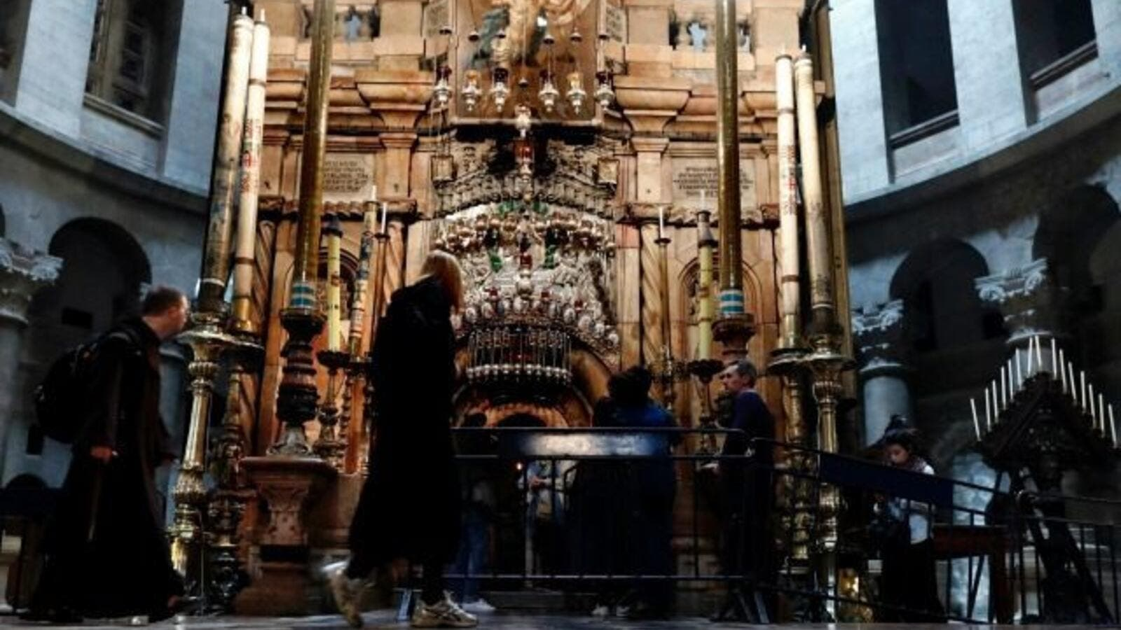 The tomb where Jesus is said to have been buried before his resurrection in Jerusalem's Church of the Holy Sepulchre (AFP/File Photo)