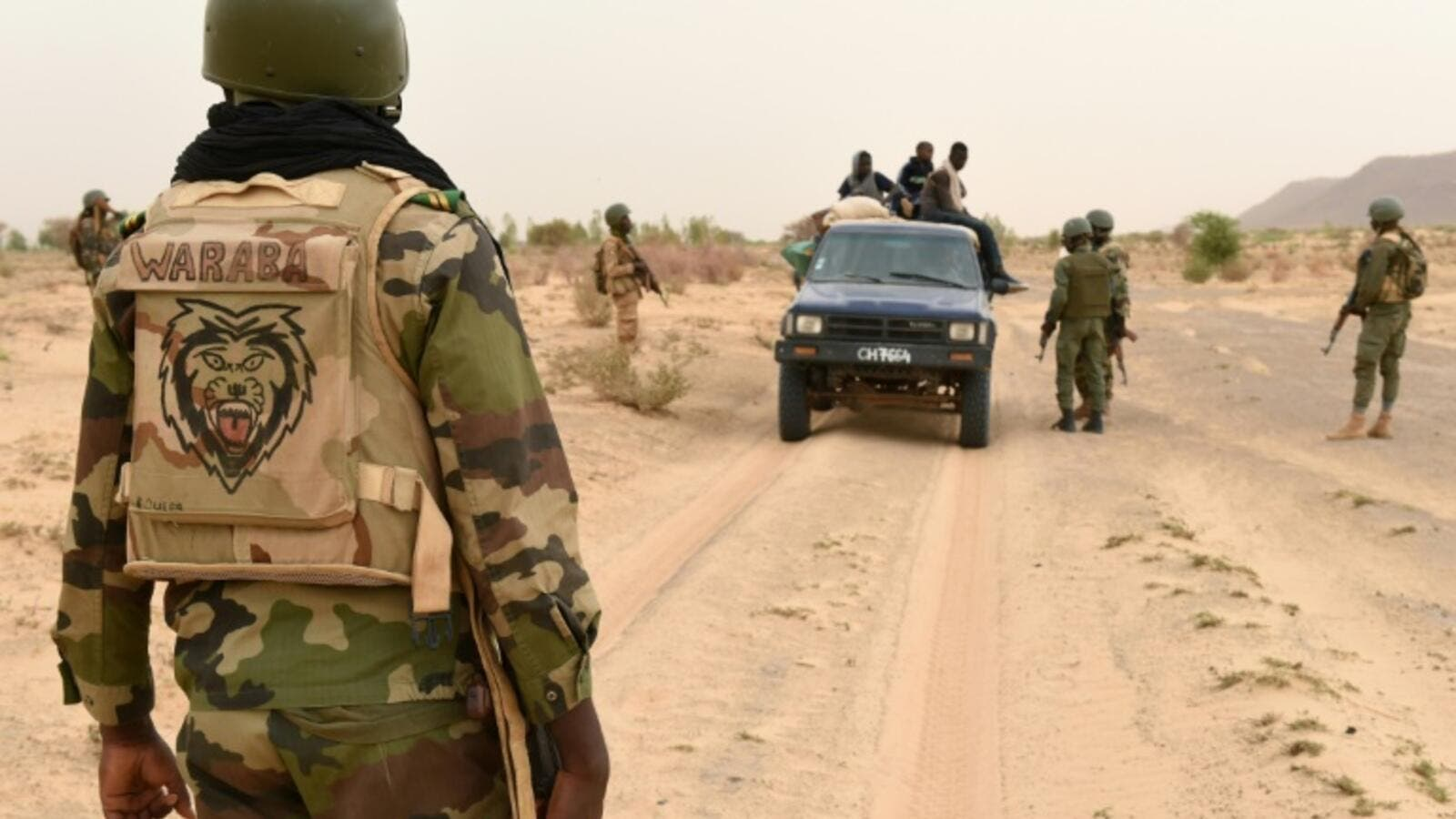 Mali soldiers stop truck in search of militants. (AFP/File Photo)
