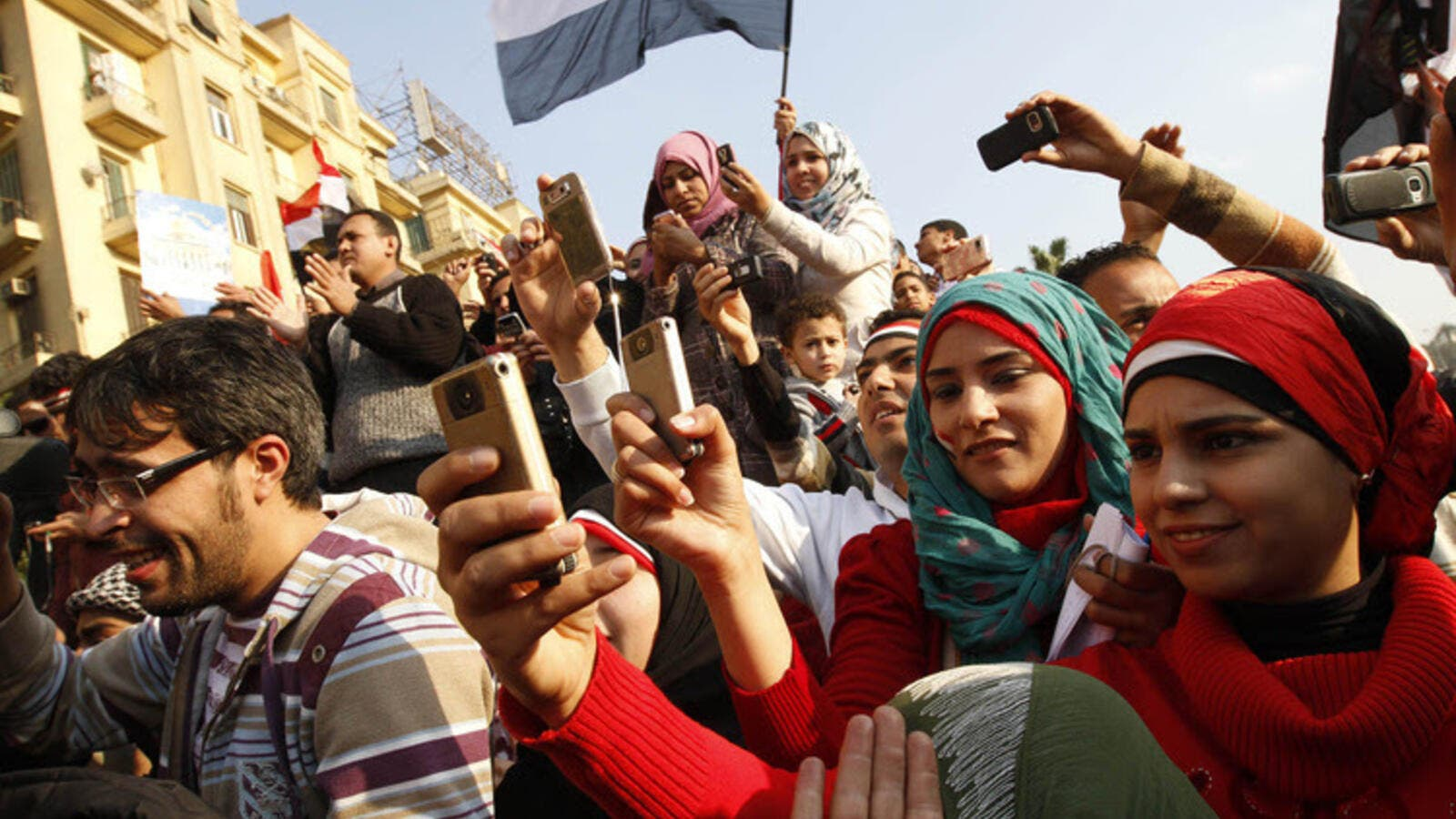 Mobile phone use is popular among Egyptians of all ages