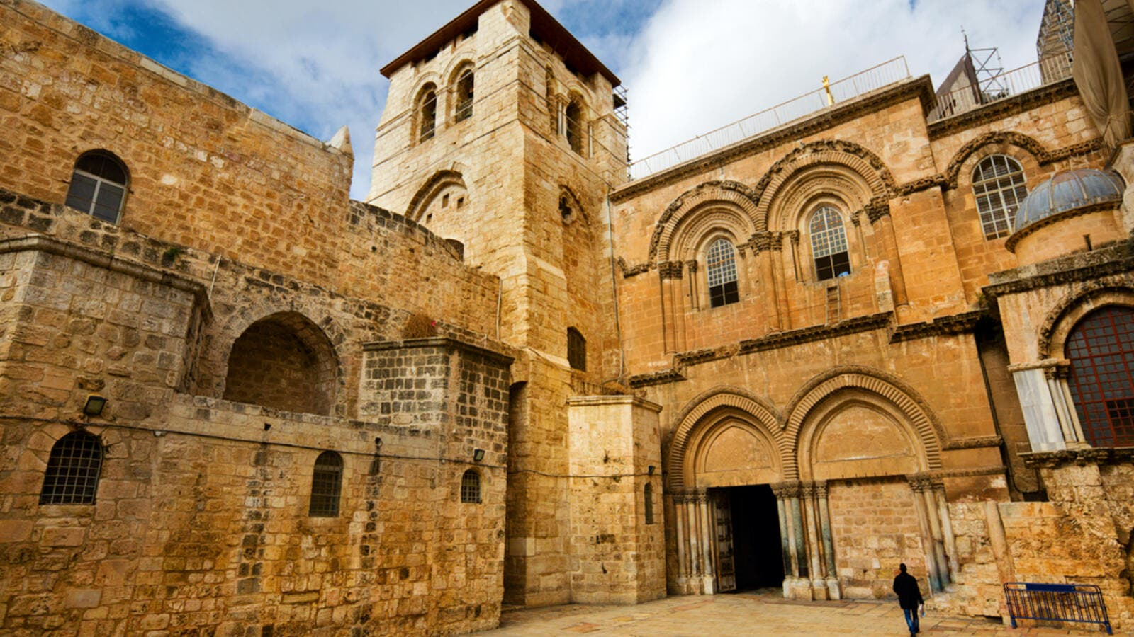The entrance to the Church of the Holy Sepulchre, which houses Christ's Tomb, is seen in the old city of Jerusalem. (Shutterstock)