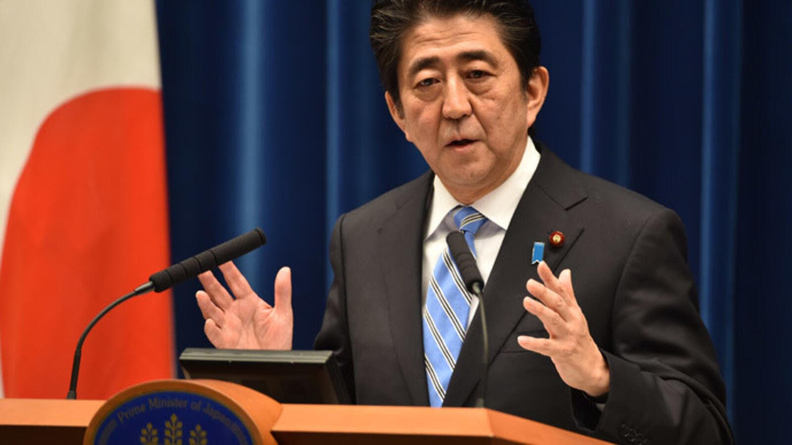 Japan's religious freedom means that nobody is asked their religion, so Muslims are of course allowed. Photo shows Japanese Prime Minster Shinzo Abe. (AFP/Kazuhiro Nogi)