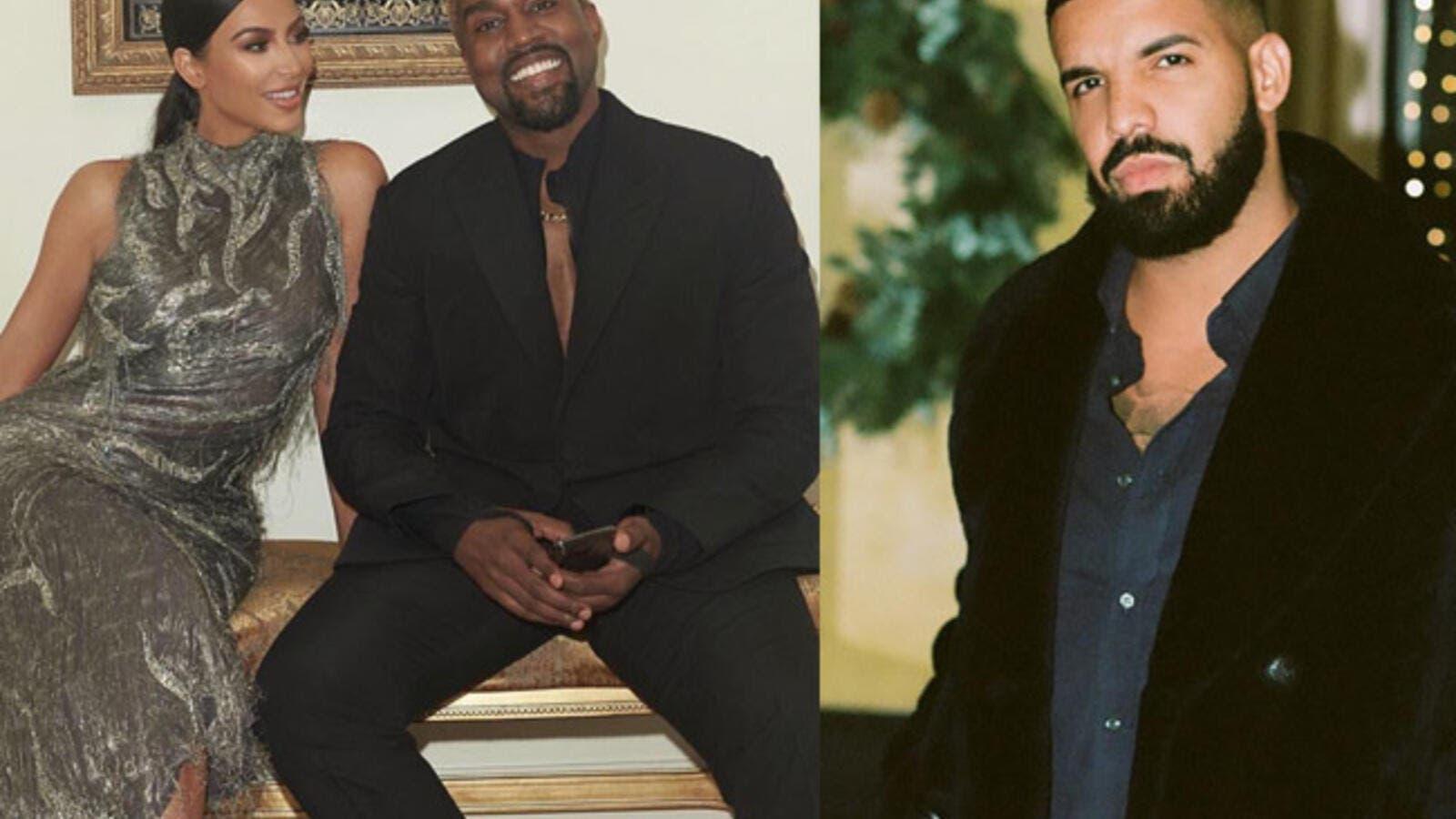 Kanye West Hits out at Drake For Following Kim Kardashian on
