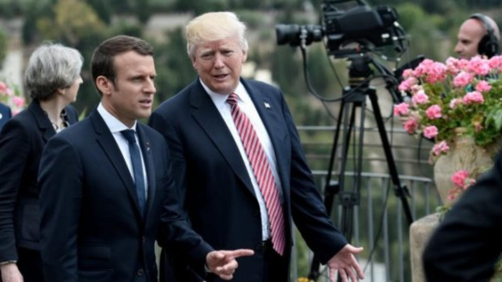 French President Emmanuel Macron and US President Donald Trump  (AFP/File Photo)