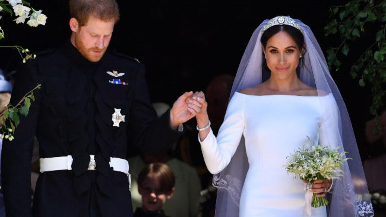 Meghan Markle wore one of Princess Diana's rings to her wedding reception  (Source: BEN STANSALL / POOL / AFP)