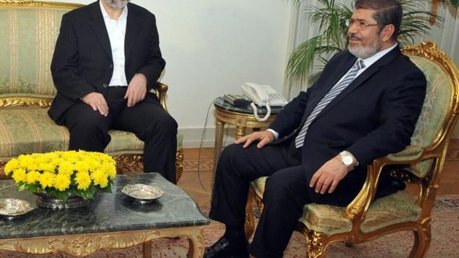 Morsi successfully negotiated an Israeli ceasefire speaking to Hamas' Khaled Mashaal (pictured) but so far has struggled more with calming the waters in his own country.