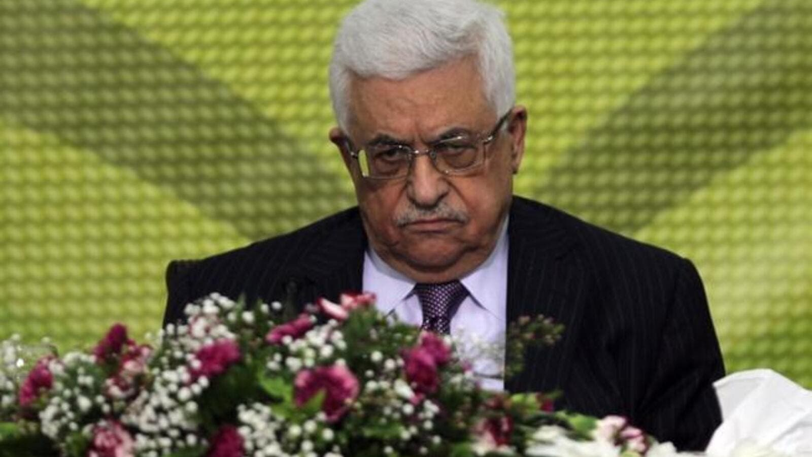 "Palestinian Authority president Mahmoud Abbas attends a Fatah ""Revolutionary Council"" meeting in the Palestinian West Bank city of Ramallah on Wednesday."