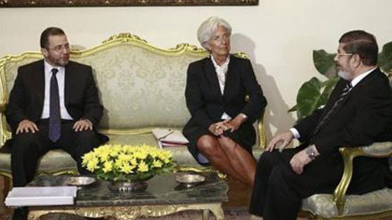 An IMF team  has left Cairo after 'positive' talks (File photo)