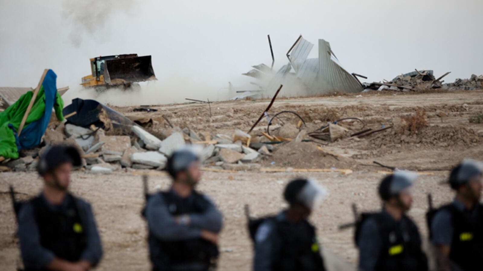 The destruction of al-Araqib village is part of the Israeli government's Prawer Plan. (AFP/File)