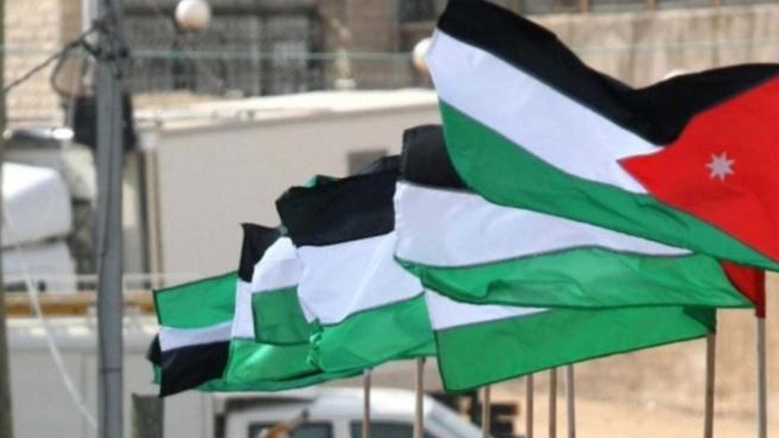 Jordan flags (Image courtesy of Times of Israel)