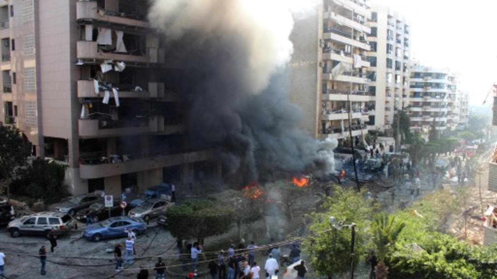 Flames rise from the site of a blast in Bir Hassan neighbourhood in the southern Beirut on November 19, 2013. At least 22 people were killed in a double bomb attack outside the Iranian embassy in Beirut. Is Lebanon turning into the new Iraq? (AFP)