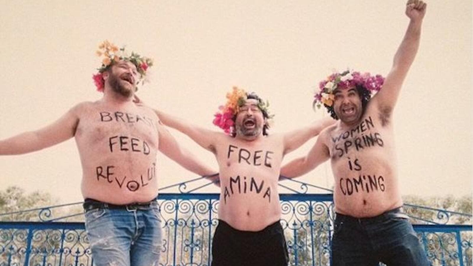 FEMEN impersonators. (Photo courtesy of Al-Akhbar and ST McNeil)