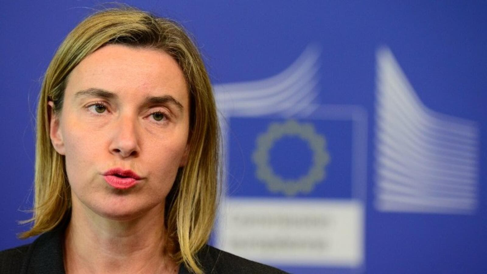 EU foreign policy chief Federica Mogherini at EU headquarters in Brussels, May 27, 2015. (AFP/File)
