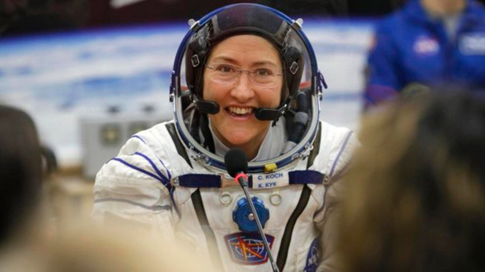NASA astronauts Anne McClain and Christina Koch were supposed to take part in the first-ever all female spacewalk this week (Twitter)