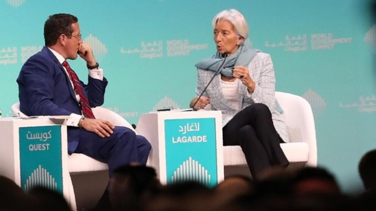 IMF chief Christine Lagarde told CNN's Richard Quest that there were 3% more women's jobs vulnerable to AI than men's. (AFP)