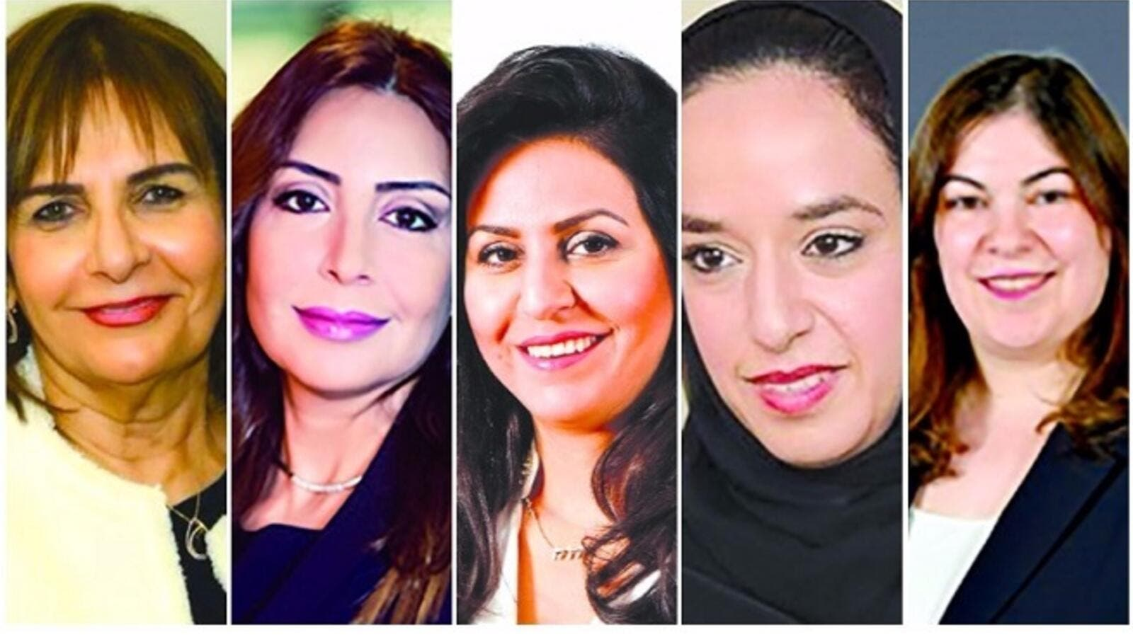 From left, Ms Almoayyed, Ms Al Shirawi, Ms Al Hashemi, Shaikha Hessa, and Ms Karzoon. (GDN)