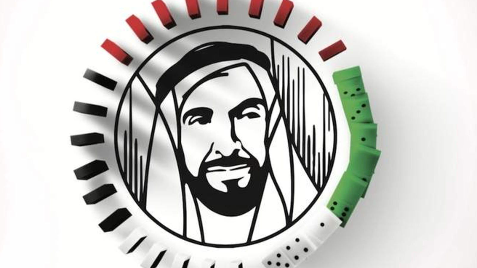 Around 95,000 dominoes will be collapsed to reveal the Year of Zayed logo. (KhT)