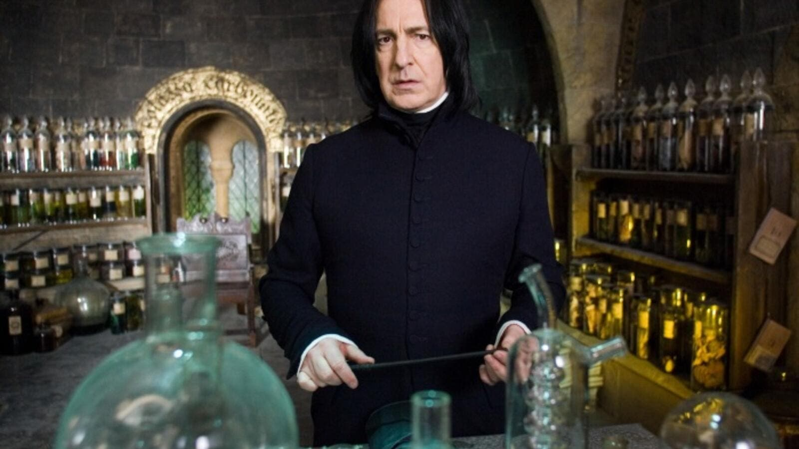 Rickman was most famous for his role as Professor Snape in the Harry Potter films. (Harrypotter.wikia.com)
