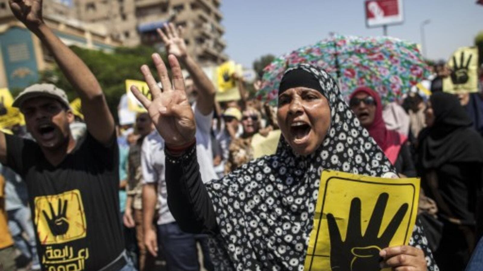Protests over the Rabaa Massacre in Cairo (AFP / File)