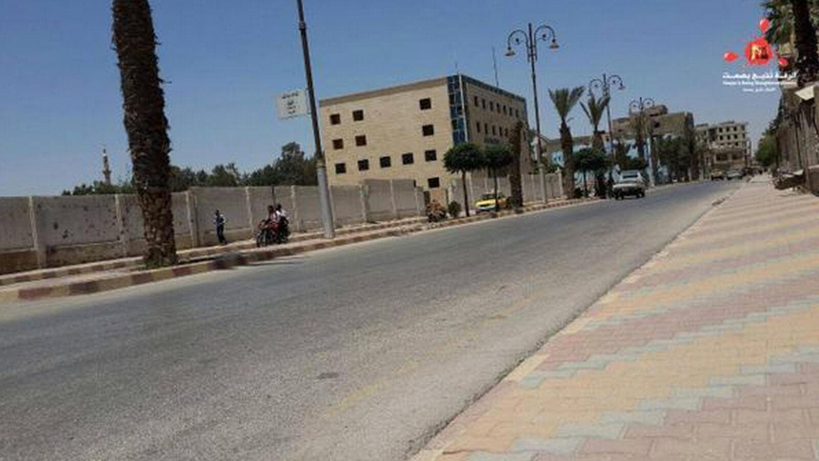 Raqqa Is Being Slaughtered Silently posted a photo on Twitter of empty streets in the provincial city under Daesh. (Twitter)