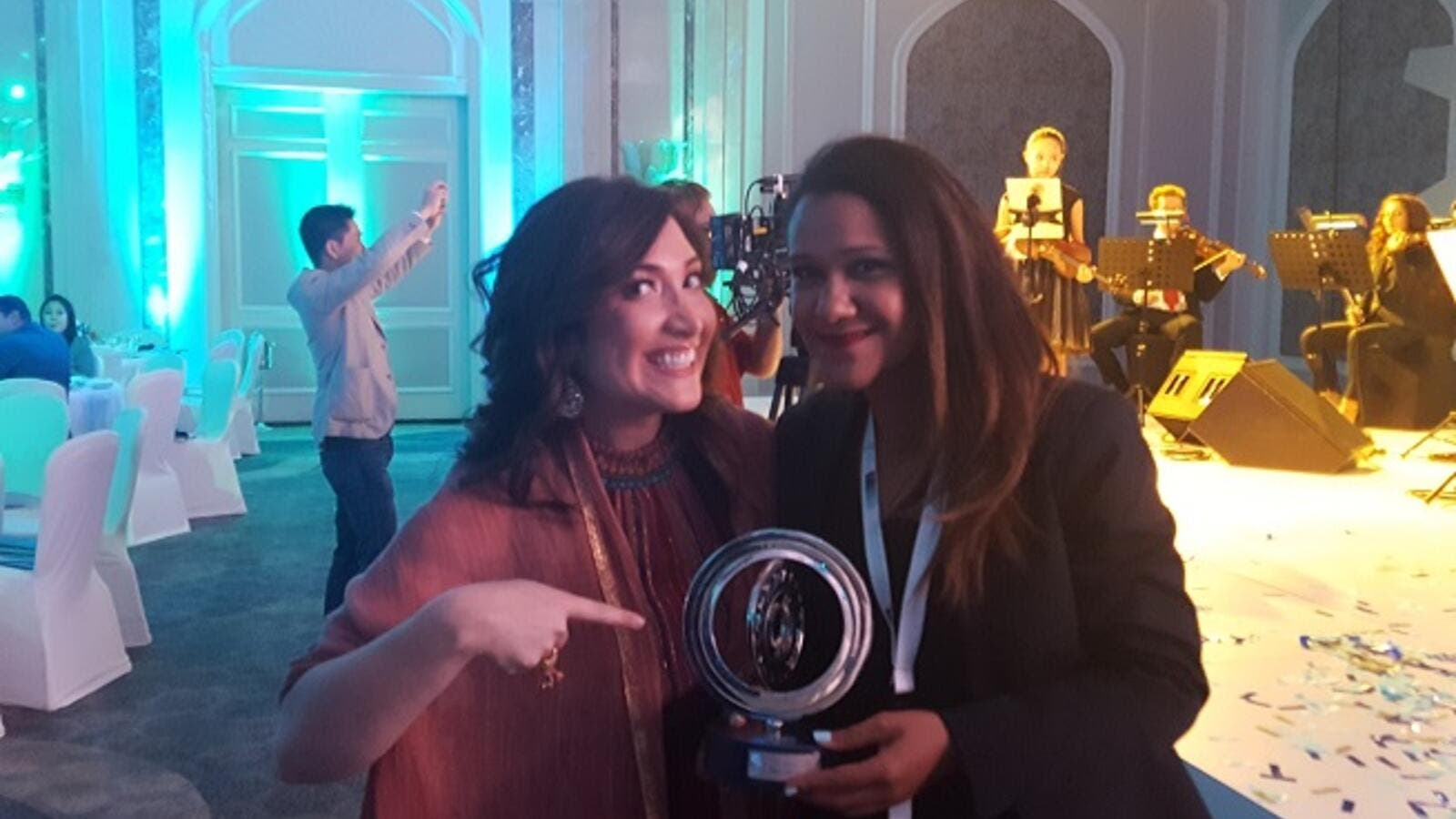 In this interview, Jordanian entrepreneur Rola Fayyad tells us about her social app 'Friendture', her life as an entrepreneur and the funding she received from Qatar. (Pictured here: Rola Fayyad with ex-Facebook executive Randi Zuckerberg)