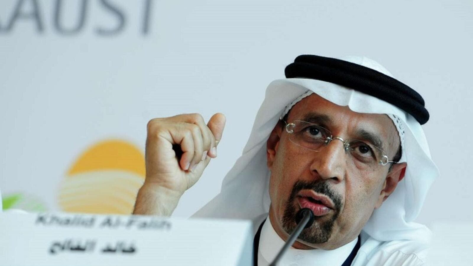 Saudi Minister of Energy, Industry and Mineral Resources, and chairman of Saudi Aramco Khalid Al-Falih. (AFP)