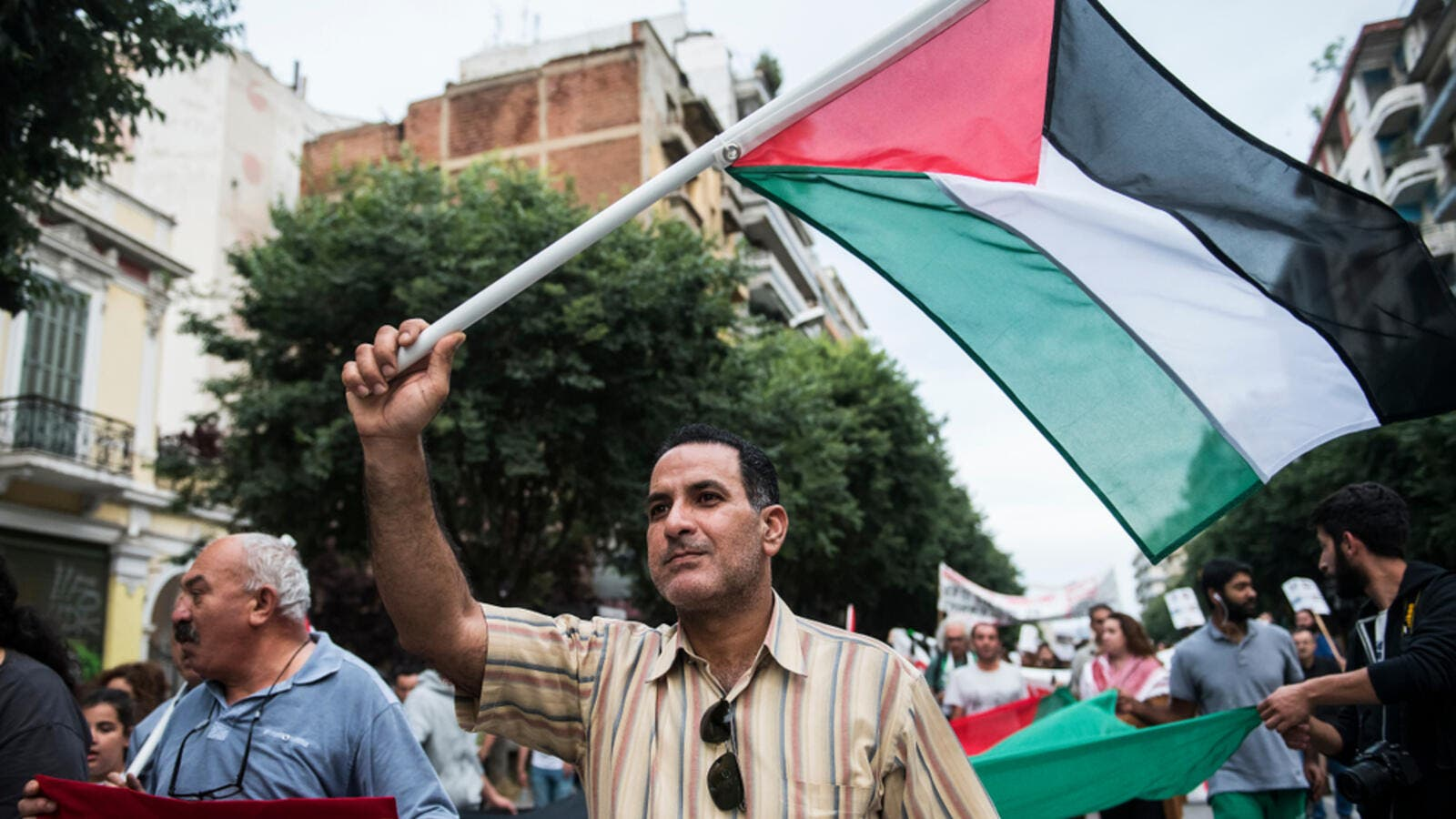 Palestinian supporter (Shutterstock/File Photo)